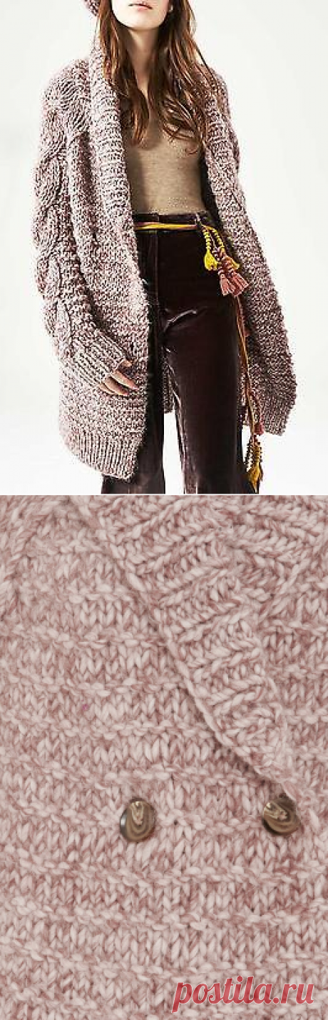 $645 Ulla Johnson Hand Knit Aiko Alpaca Mezcla Largo De Gran Tamaño Chaqueta Abrigo Rose | eBay