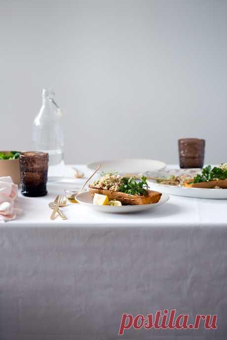 Food and Cook by trotamundos » Calabaza asada rellena de quinoa y queso feta