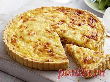 Заливной луковый пирог по французскому рецепту - Великий повар - пошаговые фоторецепты