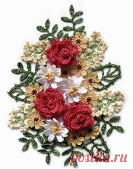 Вязаные крючком цветы — Сделай сам, идеи для творчества - DIY Ideas