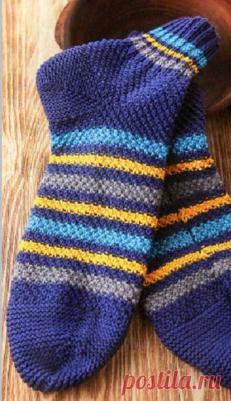 Уютные вязаные носочки