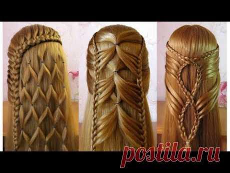 Coiffures simples et belles 🌷 facile à faire cheveux longs/mi longs - YouTube