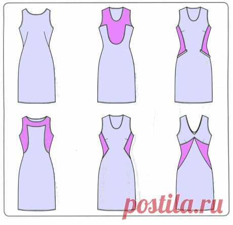 Моделирование платья. Варианты перевода выточек