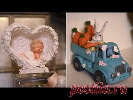 Пасхальный декор из ваты / Чудесные украшения из игрушек Фикс Прайс