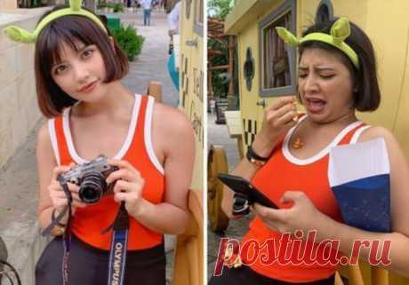 Instagram модель из Таиланда показала, что остается за кадром . Тут забавно !!!
