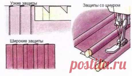 Защипы на ткани