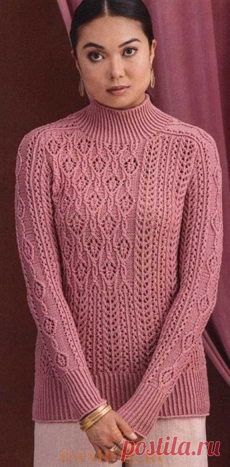 Ажурный пуловер в винтажном стиле