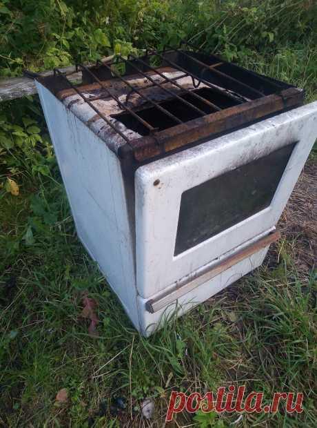 Сделал очаг для готовки на улице за 10 минут или вторая жизнь газовой плиты   Cergey Paramonov   Яндекс Дзен