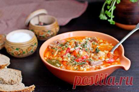 Густой суп с говядиной и перловкой | Домашний ресторан. Рецепты | Яндекс Дзен