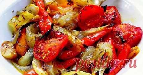 Овощи, запечённые в маринаде,фантастически вкусно! Получаются они просто божественно вкусными.