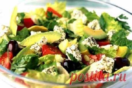 Салат с авокадо и брынзой рецепт – греческая кухня: салаты. «Еда»
