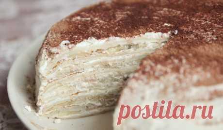 Блинчатый торт с сыром маскарпоне