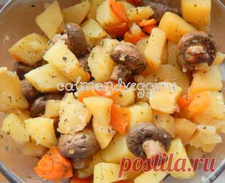 Картошка с грибами в пакете для запекания