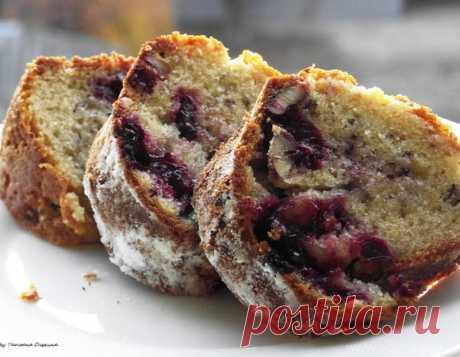 Кекс с вишней и орехами – простой рецепт на каждый день, пошаговый рецепт на 3387 ккал, фото, ингредиенты - Татьяна Онегина