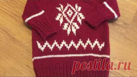 Детский свитер лопапейса, просто и легко//мастер класс//спицами, попетельно.