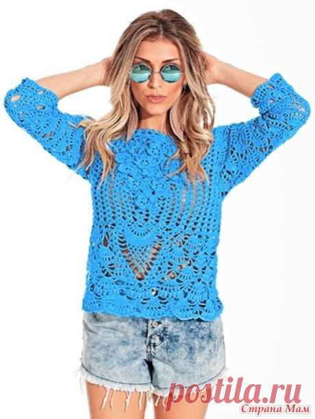 Ажурный пуловер Fio Anne - Все в ажуре... (вязание крючком) - Страна Мам