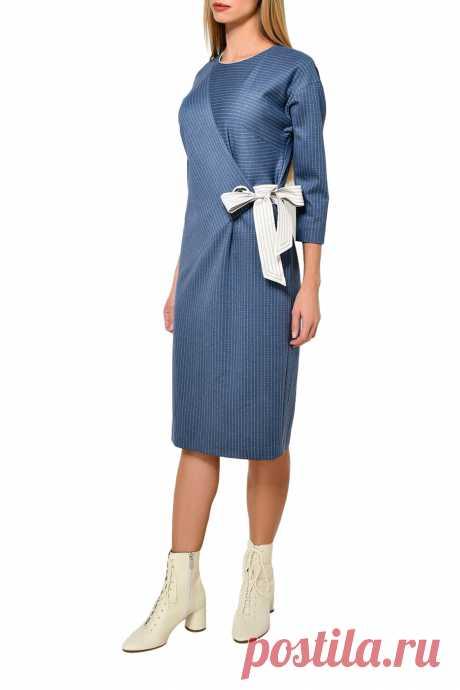 Платье Caterina Leman арт SU1989B/W20061657790 купить в интернет магазине, цвет синий, бежевый (07/03), цена и фото, отзывы - KUPIVIP.RU