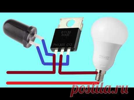 Как сделать автоматический уличный фонарь ВКЛ ВЫКЛ без LDR