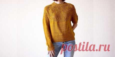 Пуловер с круглой кокеткой Yurinoki - Вяжи.ру