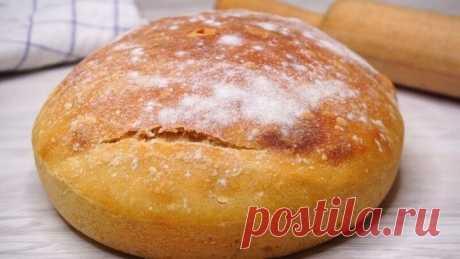 Проще рецепта ХЛЕБА не бывает!Домашний хлеб по простому и быстрому рецепту.
