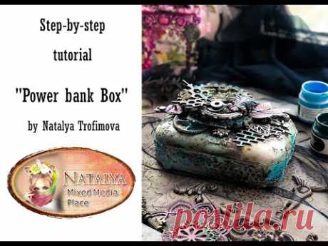 Power bank box Tutorial for Mixed Media Place