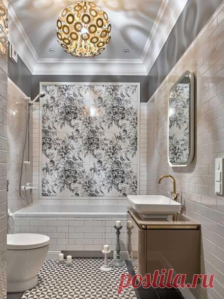 Необычный оригинальный дизайн ванной комнаты!