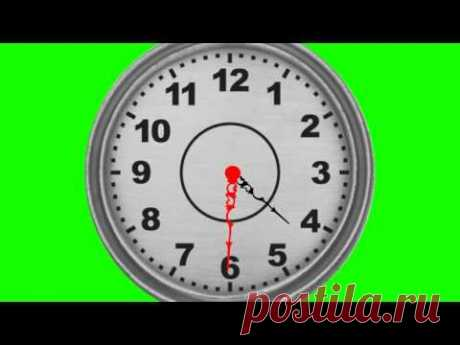 REALISTIC clock green screen free royalty footage