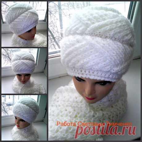 Красивая шапочка от Светланы Тимченко