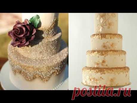 Пайетки на торте без аэрографа и посыпки! Из желатина!
