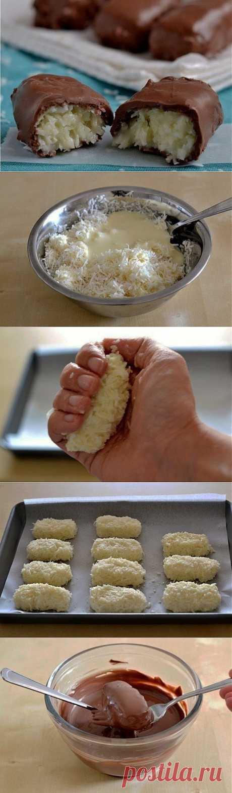Простой рецепт конфет «Баунти» .