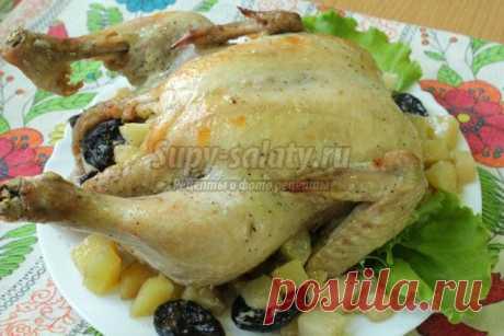 Курица с картошкой, черносливом и яблоками, запеченная в рукаве. Рецепт с пошаговыми фото » Рецепты, фоторецепты, блюда из мяса, блюда из рыбы, блюда из овощей, выпечка, торты, напитки, джемы, варенье, десерты