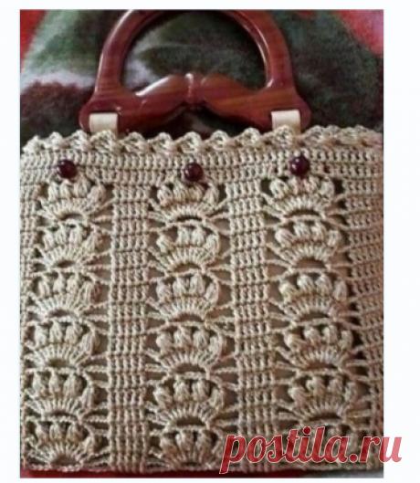 Узор для вязания сумки крючком