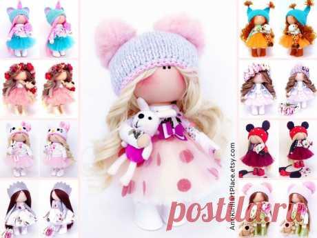 Original Love Gift Doll Handmade Pink Decor Doll Interior | Etsy