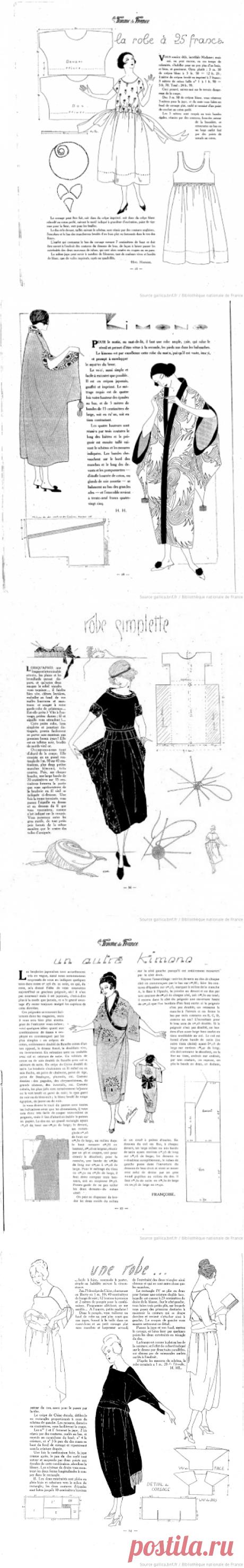 Потрясающие простые выкройки платьев 20-х годов (трафик + сюрприз) / Выкройки ретро / ВТОРАЯ УЛИЦА