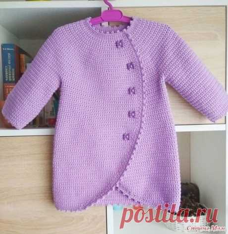 Жакет Бони с круглой кокеткой. Описание | Детская одежда крючком. Схемы