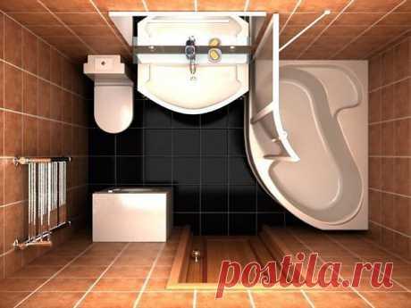 Небольшая ванная комната, в которой все идеально умещается
