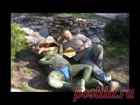 Превосходные скульптуры для сада из бетона - YouTube