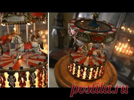 Фикс-Прайс переделка / Декоративная карусель из деревянной шкатулки