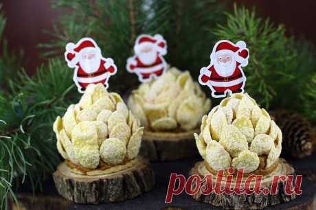 Замечательный десерт «Шишки» на новогодний стол — порадует и детей, и взрослых