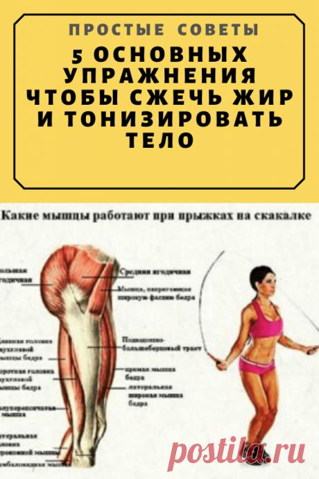 5 Основных Упражнения Чтобы Сжечь Жир И Тонизировать Ваше Тело – Простые советы