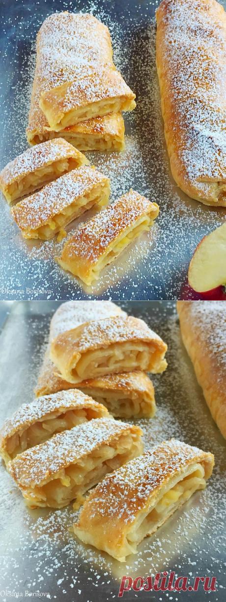 Десертный вихрь.Творожный рулет с яблоками