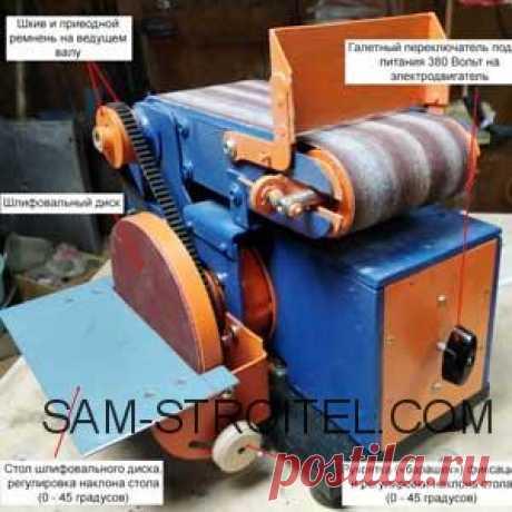 Ленточно-дисковый шлифовальный станок своими руками: чертежи, фото изготовления Самодельный ленточно-дисковый шлифовальный станок: подробные чертежи и фото пошагового изготовления станка