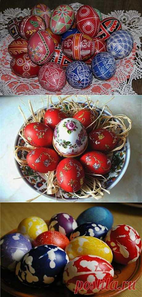 Как на праздник покрасить пасхальные яйца