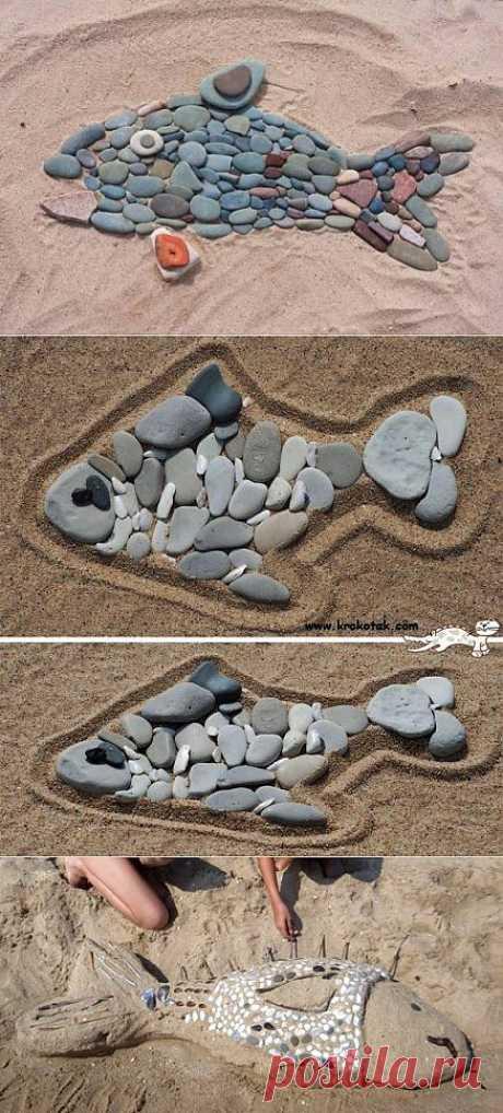 Рыбка из камней