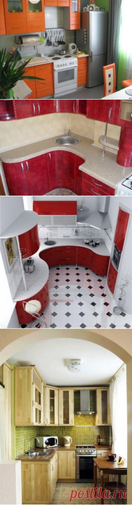 Интерьеры маленьких кухонь.