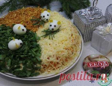 """Новогодний салат """"Три в одном"""" – кулинарный рецепт"""