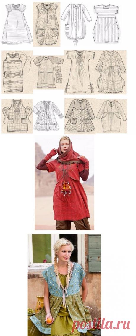 Шикарная подборка схем-выкроек в стиле Бохо (Шитье и крой) – Журнал Вдохновение Рукодельницы