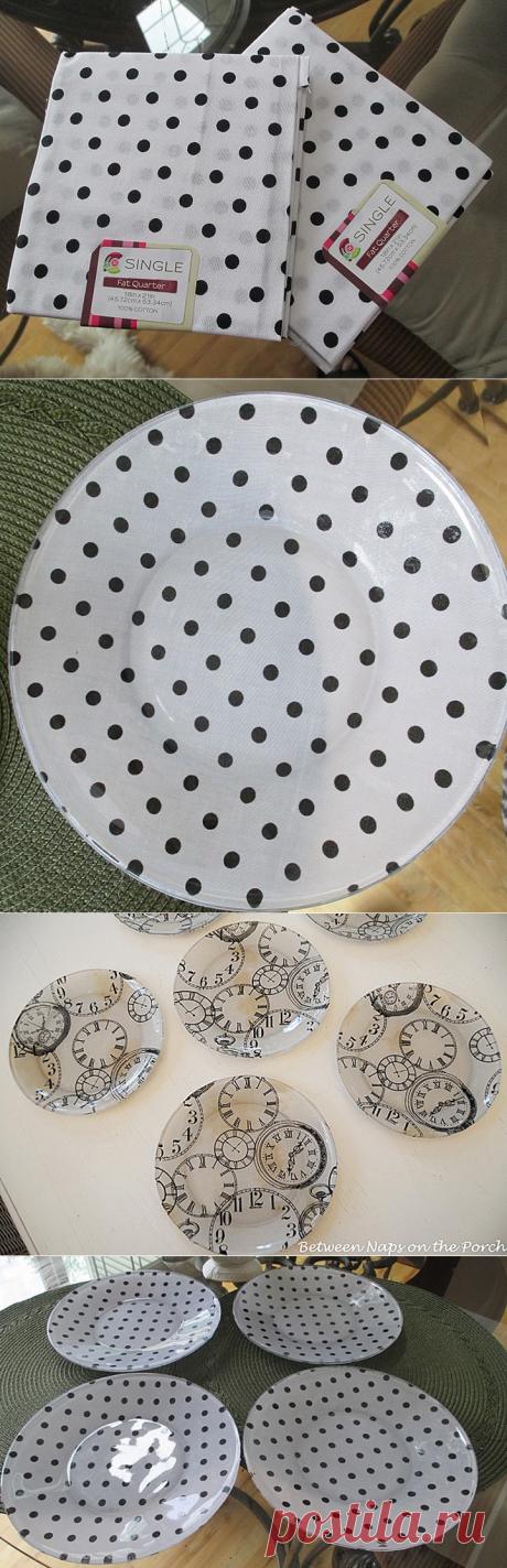 Идея, как сделать самому красивую столовую посуду.