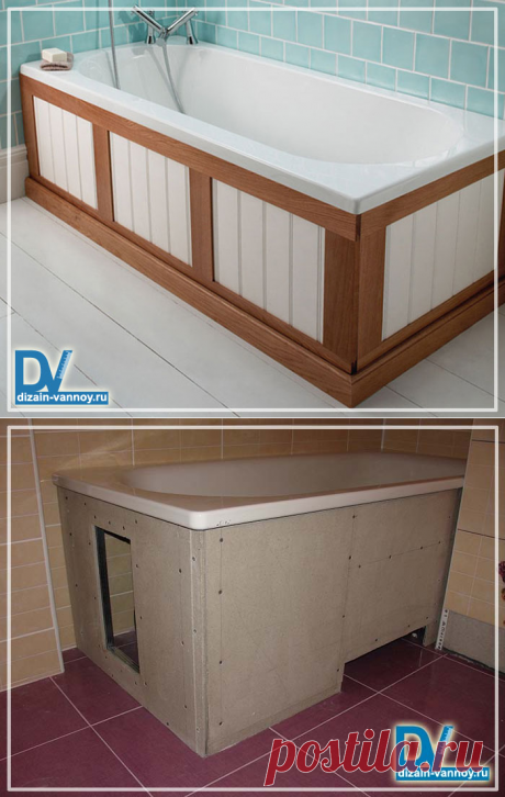 Than it is possible to close a bathtub from below? Practical and inexpensive options