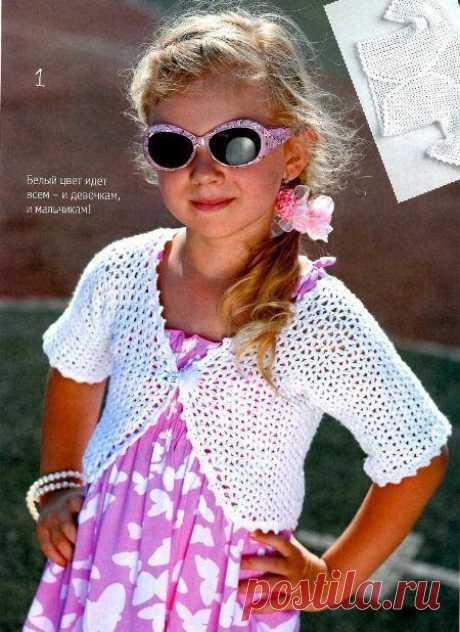 Вязание: болеро для девочки крючком — Отлично! Школа моды, декора и актуального рукоделия